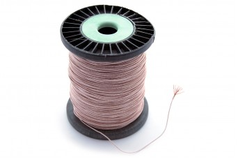 25cm Litz Copper Wire with Polyester Filament (60x0.1mm Strands)