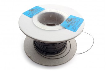 25cm Teflon PTFE Coated Silver Plated Copper Wire (Grey 26AWG)