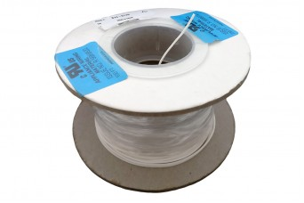25cm Teflon PTFE Coated Silver Plated Copper Wire (White 26AWG)