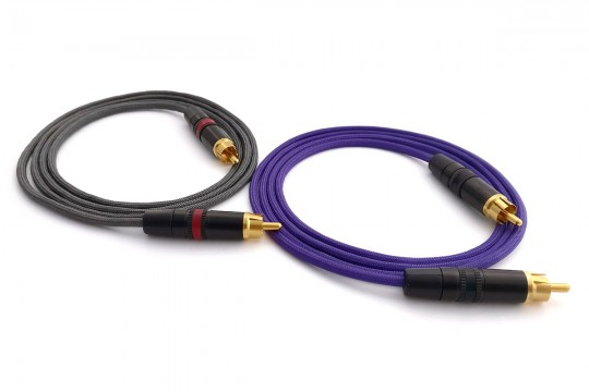 OIDIO Pellucid RCA Cable Pair with Rean Connectors