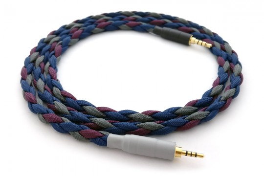Ready-made OIDIO Mongrel Cable for Fostex T60RP & Oppo PM-3 Headphones - 1.1m 2.5mm TRRS