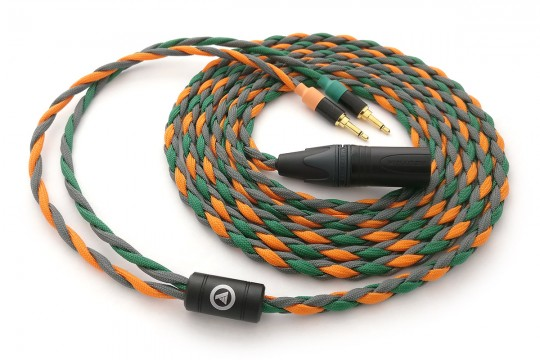 Ready-made OIDIO Mongrel Cable for Various Dual 3.5mm Headphones - 2.75m XLR