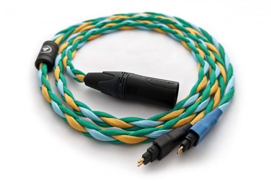 Ready-made OIDIO Mongrel Cable for Sennheiser HD600, HD650 & HD660S Headphones - 1.25m XLR